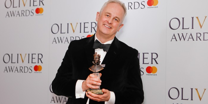 Dominic Cooke backstage at the 2018 Olivier Awards