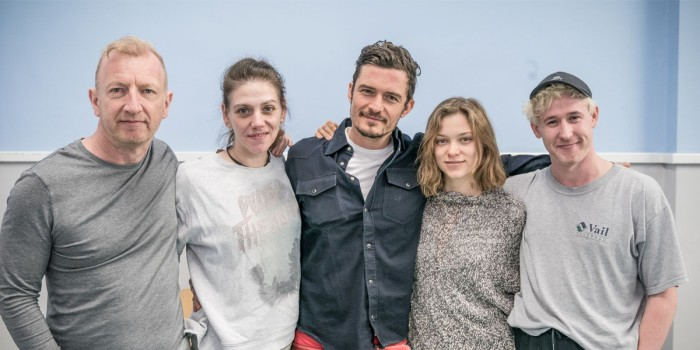 Orlando Bloom and the cast of Killer Joe - photo credit Marc Brenner