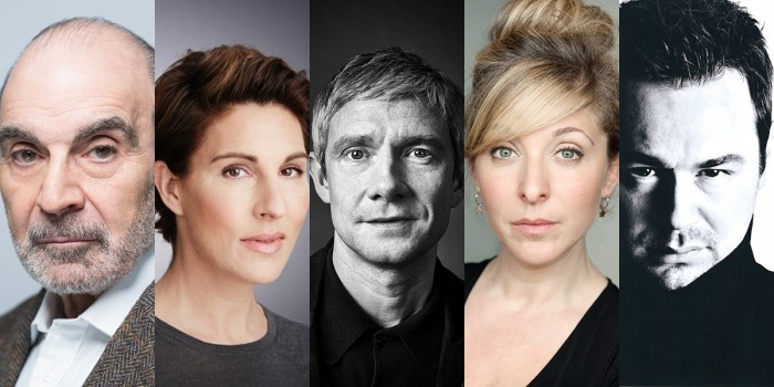 David Suchet, Tamsin Greig, Martin Freeman, Tracy Ann Oberman and Danny Dyer will star in Pinter At The Pinter season