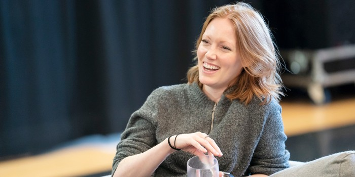 Clare Foster in Consent rehearsals (Photo: Johan Persson)