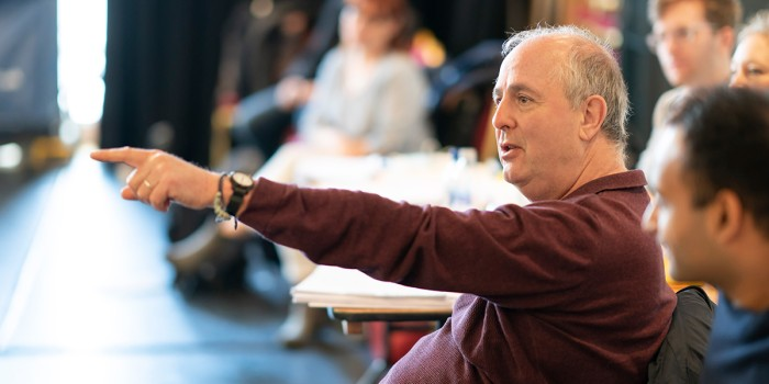 Roger Michell in Consent rehearsals (Photo: Johan Persson)