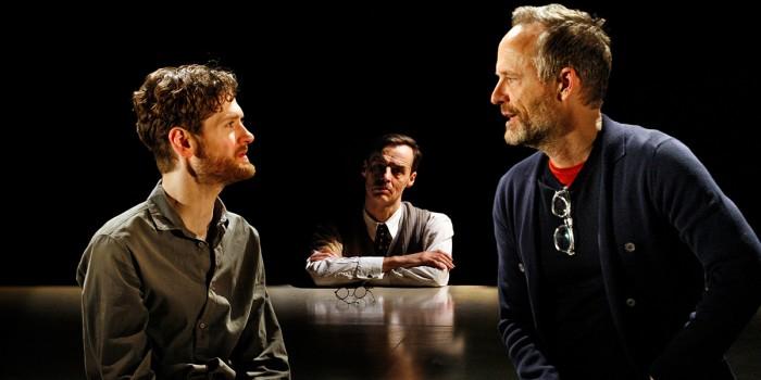 Kyle Soller, Paul Hilton and John Benjamin Hickey in The Inheritance (Photo: Simon Annand)