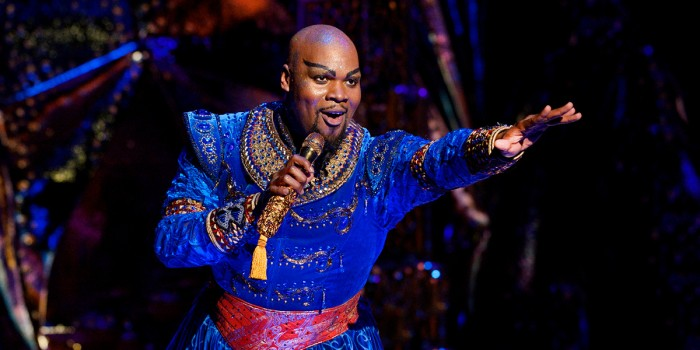 Michael James Scott as The Genie in Disney's Aladdin in the North American tour (Photo: Deen van Meer/Disney)