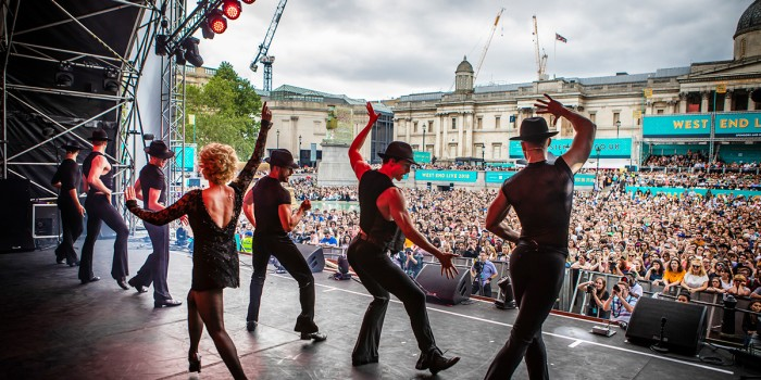 The cast of Chicago at West End LIVE 2018 (Photo: Pamela Raith)