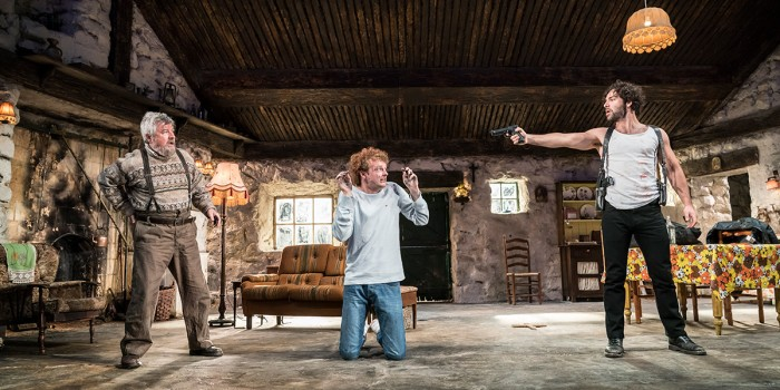 Denis Conway, Chris Walley and Aidan Turner in The Lieutenant Of Inishmore (Photo: Johan Persson)