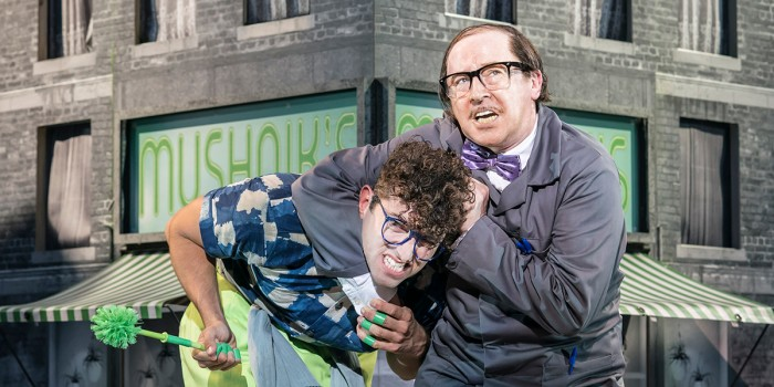 Marc Antolin and Forbes Masson in Little Shop Of Horrors (Photo: Johan Persson)