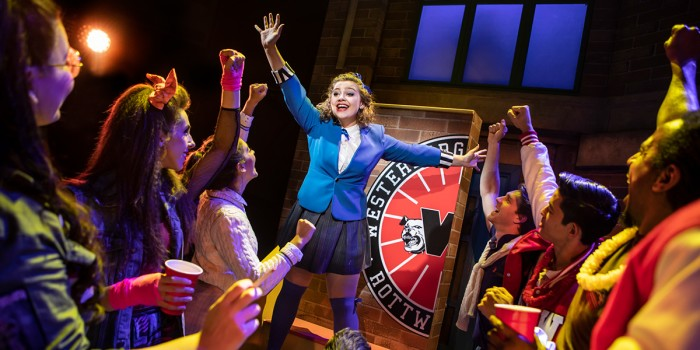 Carrie Hope Fletcher (Veronica Sawyer) in Heathers The Musical (Photo: Pamela Raith)