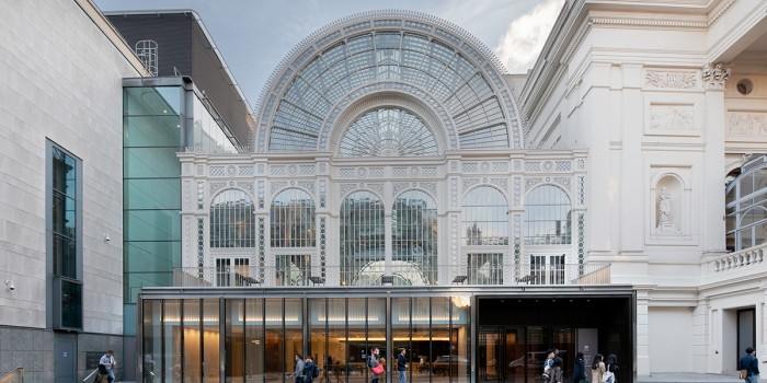 The new exterior of the Royal Opera House (Photo: Luke Hayes)