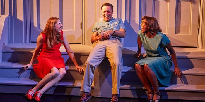 Rosalie Craig, Richard Henders and Jennifer Saayeng in Company (Photo: Brinkhoff/Mogenburg)
