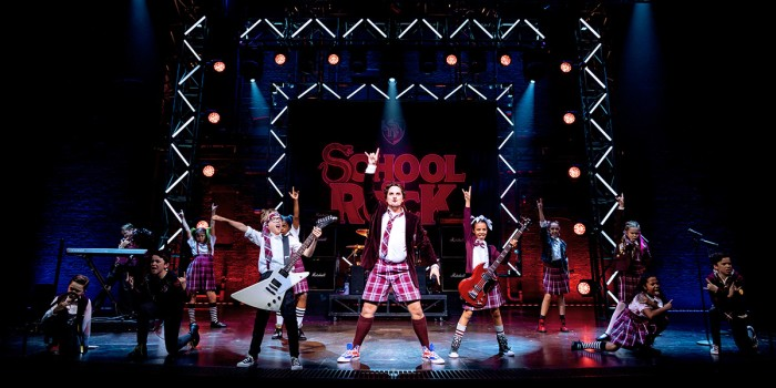 Craig Gallivan and the kids cast of School Of Rock (Photo: Manuel Harlan)