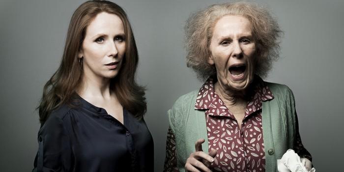 Catherine Tate and 'Nan' (Photo: Matt Crockett)