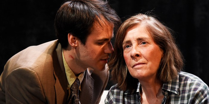 Calum Finlay and Phyllis Logan in Switzerland at Theatre Royal Bath (Photo: Nobby Clark)