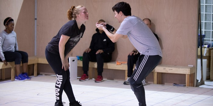 Eliza Collings and Joshua Jenkins in The Curious Incident Of Dog In The Night-Time rehearsals (Photo: Ellie Kurttz)
