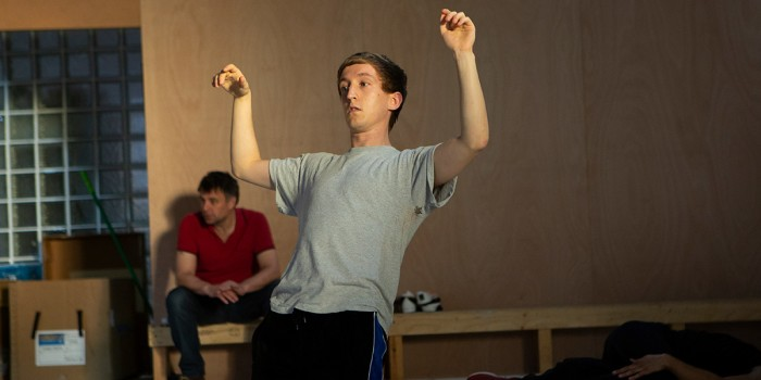 Sam Newton in The Curious Incident Of Dog In The Night-Time rehearsals (Photo: Ellie Kurttz)
