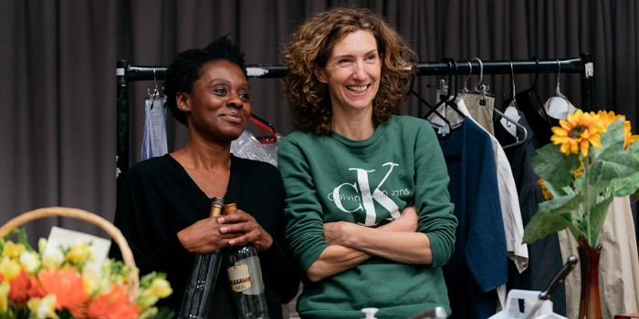 Natasha Gordon and Hattie Ladbury in rehearsals for Nine Night (Photo: Helen Murray)
