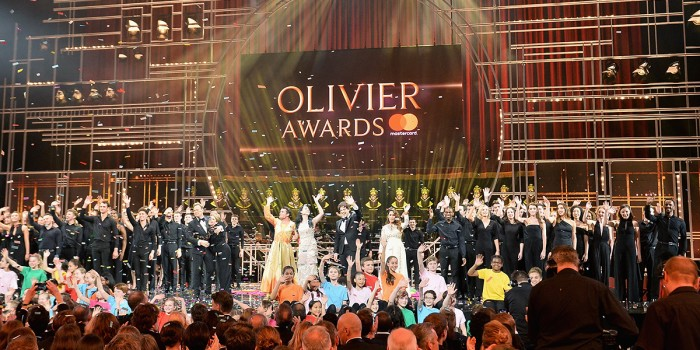 Joseph performance at the Olivier Awards 2018 with Mastercard (Photo: Jeff Spicer)