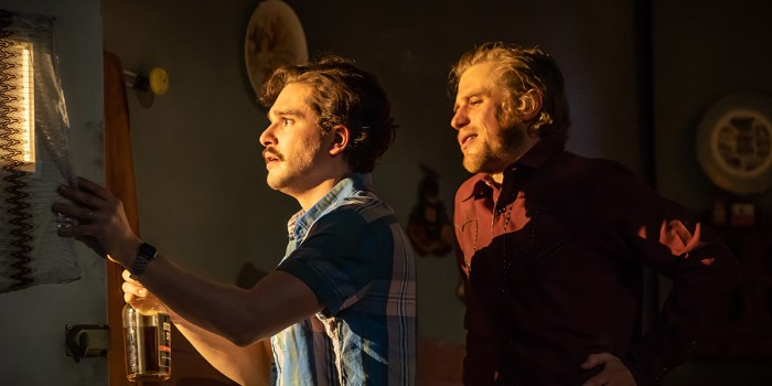 Kit Harington and Johnny Flynn in True West (Photo: Marc Brenner)