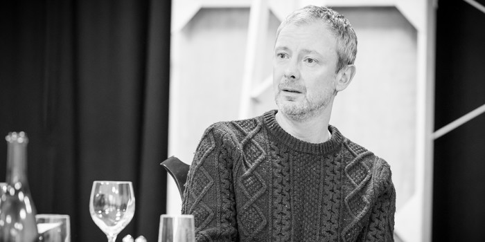 John Simm in rehearsal for Pinter Six (Photo: Marc Brenner)