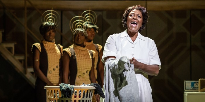 Sharon D Clarke and ensemble in Caroline, Or Change at Playhouse Theatre (Photo: Helen Maybanks)