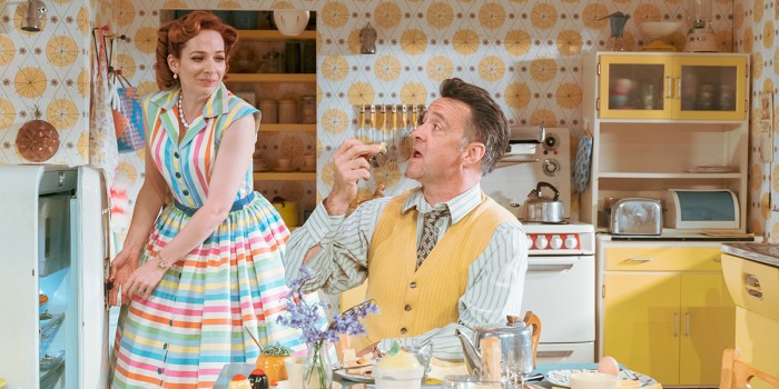 Katherine Parkinson and Richard Harrington in Home, I'm Darling (Photo: Manuel Harlan)