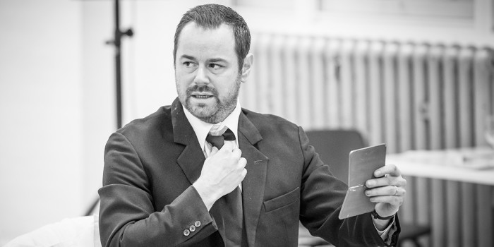 Danny Dyer in rehearsals for Pinter Seven (Photo: Marc Brenner)