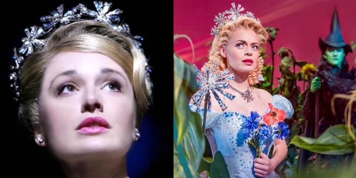 Glinda in 2009: Dianne Pilkington and Glinda in 2019: Sophie Evans