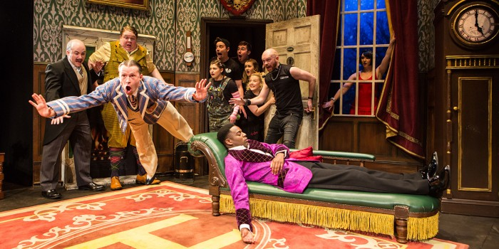 The cast of The Play That Goes Wrong at the Duchess Theatre (Photo: Helen Murray)