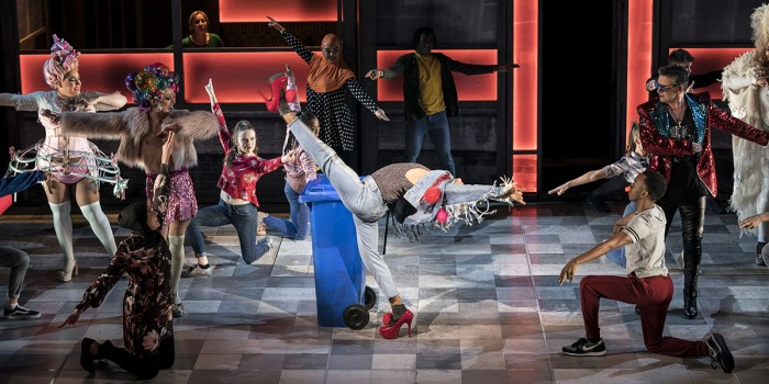 Layton Williams (Jamie) and The Cast of Everybody's Talking About Jamie at the Apollo Theatre. Photo credit Johan Perrson