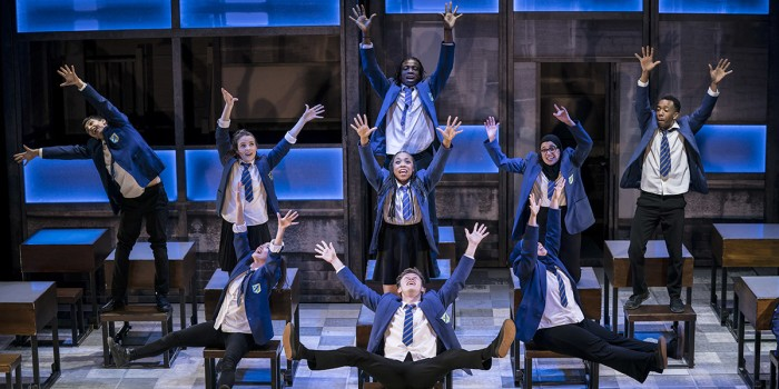 The Cast of Everybody's Talking About Jamie at the Apollo Theatre (2) Photo credit Johan Perrson.
