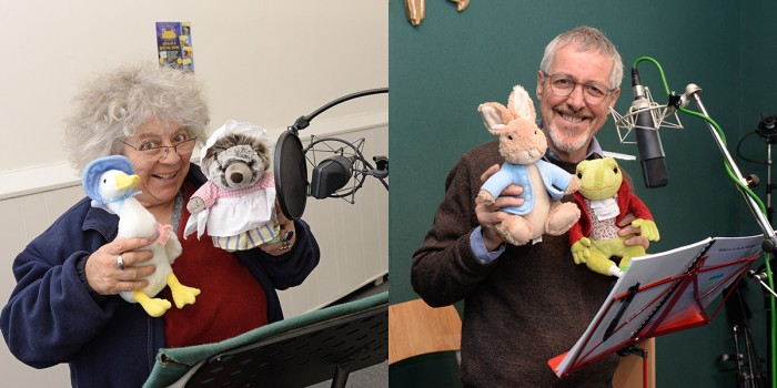 Miriam Margolyes & Griff Rhys Jones lend their voices to Where Is Peter Rabbit? (Photo: Steve Finn)