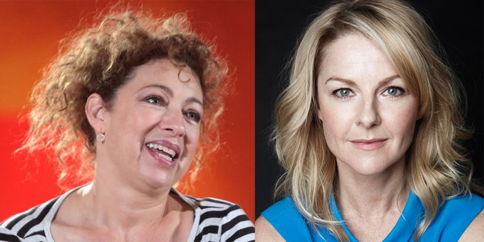 Alex Kingston and Sarah Hadland