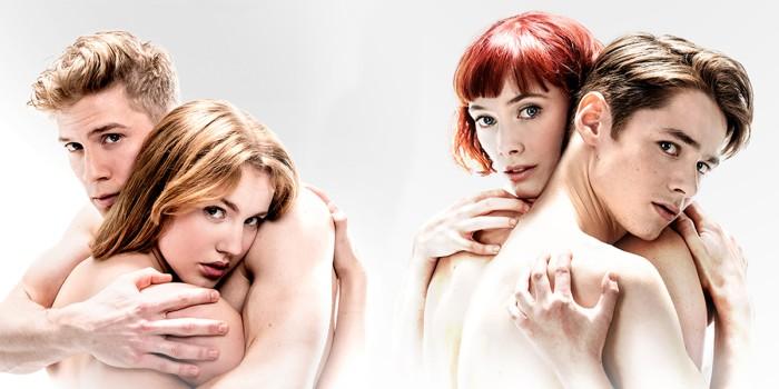 Matthew Bourne's Romeo and Juliet; Seren Williams 'Juliet' & Andrew Monaghan 'Romeo'. Cordelia Braithwaite 'Juliet' & Paris Fitzpatrick 'Romeo'. Photo Johan Persson