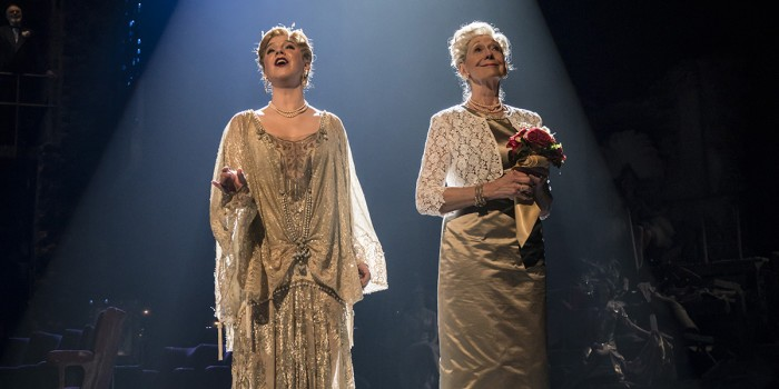 FOLLIES 2019 Alison Langer (Young Heidi) and Felicity Lott (Heidi) National Theatre (c) Johan Persson