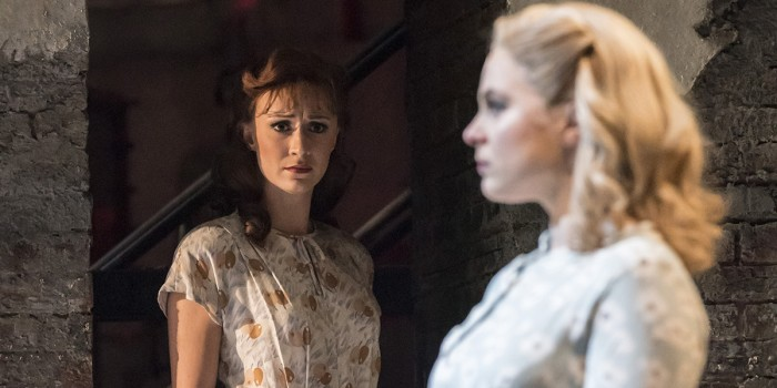 FOLLIES 2019 Christine Tucker (Young Phyllis) Gemma Sutton (Young Sally) National Theatre (c) Johan Persson