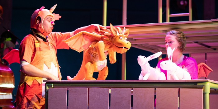 The cast of Zog at Theatre Royal Kingston (Photo: Helen Maybanks)