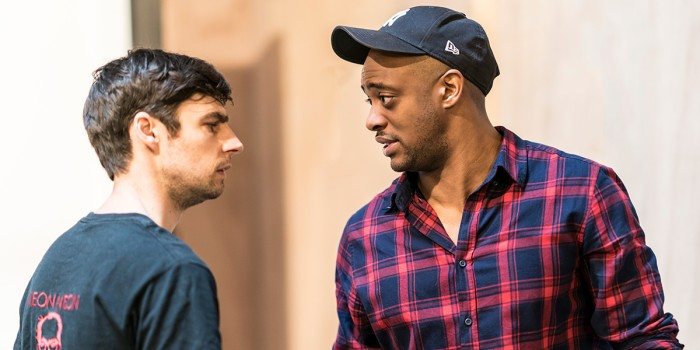 Dyfan Dwyfor and Oliver Alvin-Wilson in The Twilight Zone rehearsals (Photo: Johan Persson)