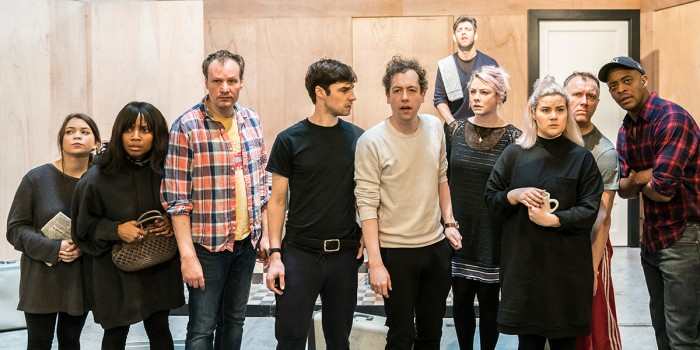 The cast in The Twilight Zone rehearsals (Photo: Johan Persson)