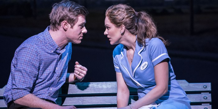 David Hunter and Katharine McPhee in Waitress at the Adelphi Theatre