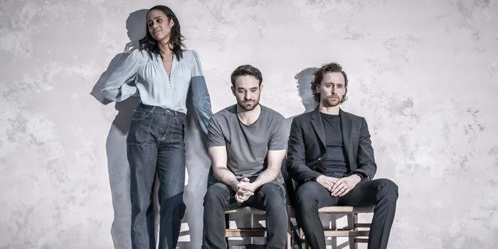 Zawe Ashton, Charlie Cox and Tom Hiddleston in Betrayal at the Harold Pinter Theatre (Photo: Marc Brenner)