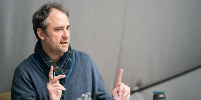 Jeremy Herrin in rehearsal for All My Sons at The Old Vic (Photo: Johan Persson)