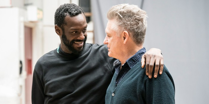 Sule Rimi and Bill Pullman in rehearsal for All My Sons at The Old Vic (Photo: Johan Persson)