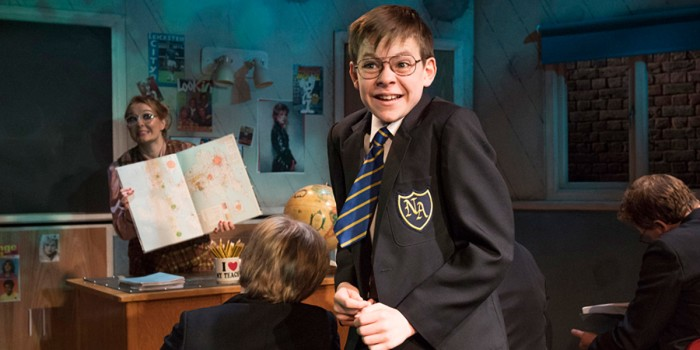 Benjamin Lewis as Adrian in The Secret Diary Of Adrian Mole Aged 13¾ - The Musical (Photo: Alastair Muir)