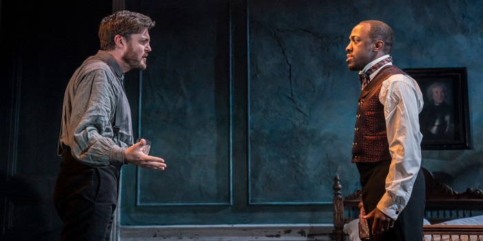 Tom Burke and Giles Terera in Rosmersholm (Photo: Johan Persson)
