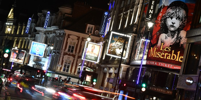 West End musicals on London's Shaftesbury Avenue (Photo: Jeff Spicer)