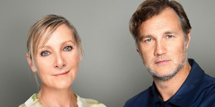 Lesley Sharp and David Morrissey play husband and wife in Jack Thorne's new play.