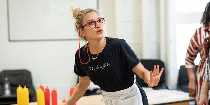 Ashley Roberts in Waitress rehearsals (Photo: Helen Maybanks)