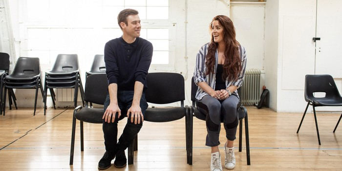David Hunter and Lucie Jones in Waitress rehearsals (Photo: Helen Maybanks)