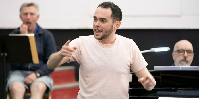 Ben Glassberg (Conductor) in rehearsals for Hansel and Gretel at Regent's Park Open Air Theatre. Photo Johan Persson