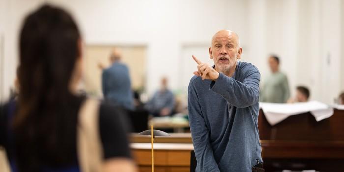 John Malkovich in Bitter Wheat rehearsals (Photo: Helen Maybanks)