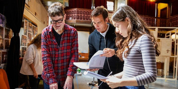 James Macdonald, Clive Owen and Emma Canning in rehearsal for The Night Of The Iguana (Photo: Brinkhoff/Moegenburg)